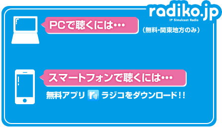 ニッポン放送をradiko(ラジコ)...