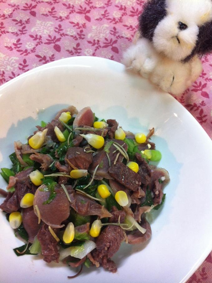 ちえちゃんが大好きだった「砂肝とレバーの炒め物」4