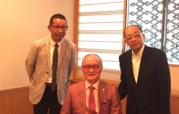 ニッポン放送ショウアップナイターナイター50周年特番 左 松本秀夫 右 深澤弘