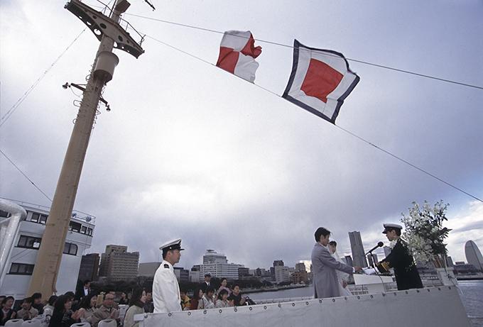 氷川丸,船上結婚式