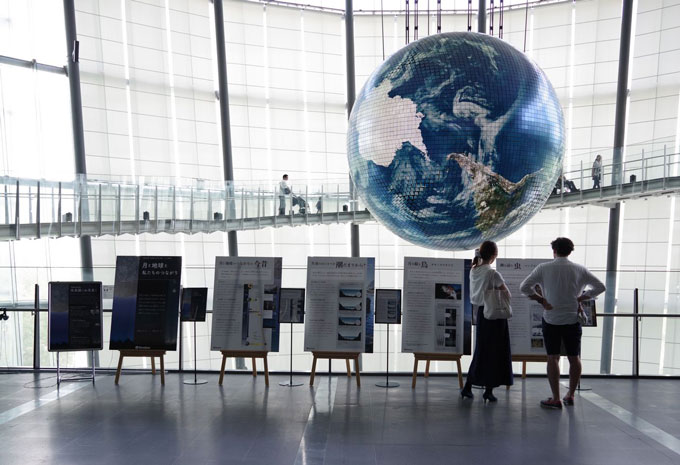 日本科学未来館,お月見,パネル展示