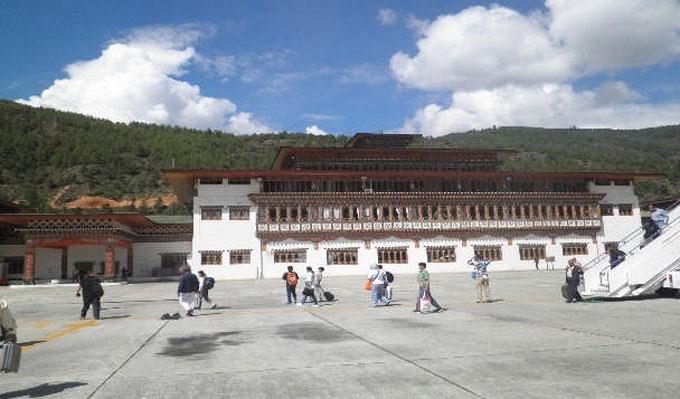 ブータンの玄関口パロ空港