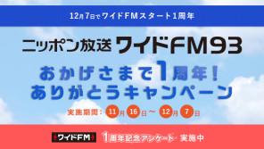 """ニッポン放送をワイドFM93で聴いて""""2台目ワイドFMラジオ"""" とニッポン放送オリジナルグッズを(合計93名)抽選で当てよう!"""