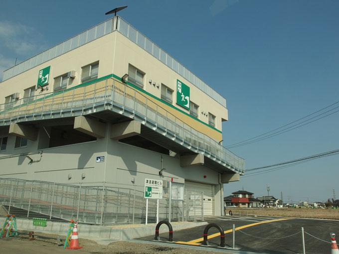 近隣には津波避難ビルが作られていました2017年3月5日