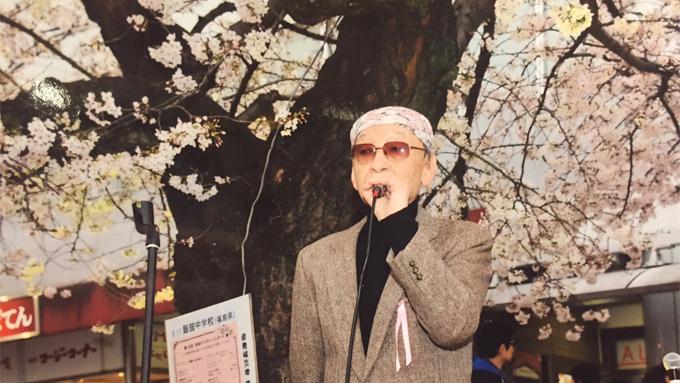 「私もこの桜に負けちゃいられないんだよ」桜が好きな仲間と共に手作りのコンサートを主催する男性「あけの語りびと」(朗読公開)