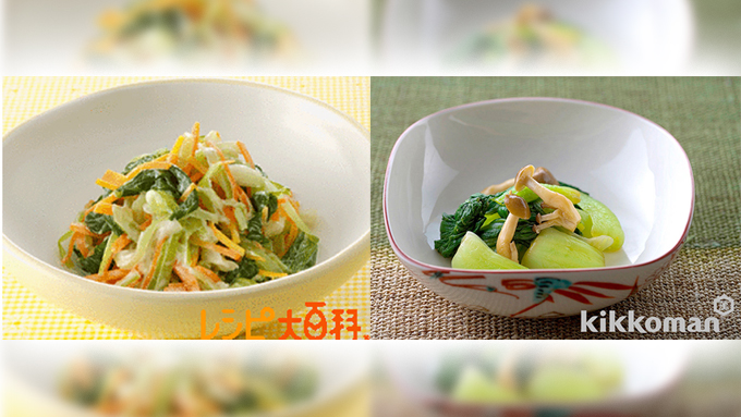 煮崩れしないチンゲン菜はレシピのバリエーションが豊富です【鈴木杏樹のいってらっしゃい】