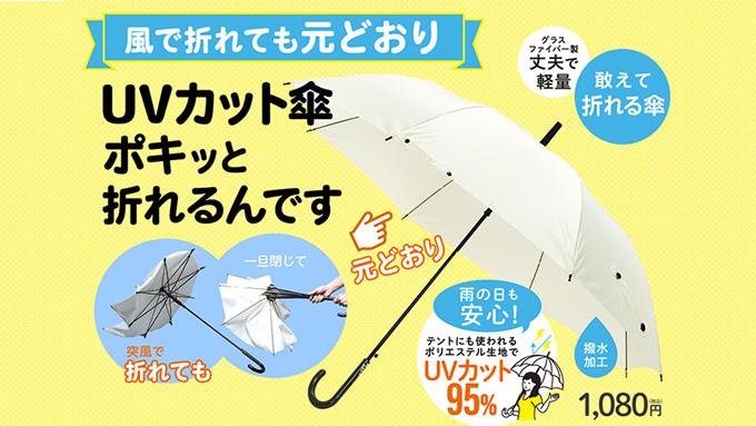 柔よく剛を制す!あえて折れる傘「ポキッと折れるんです」【本仮屋ユイカ 笑顔のココロエ】