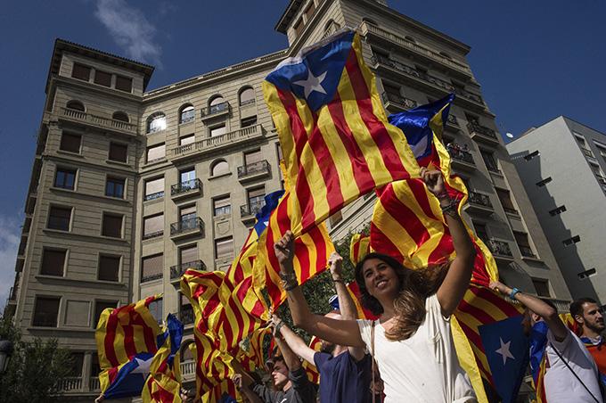 カタルーニャ デモ
