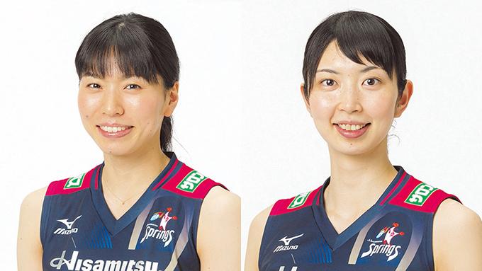 スプリングス・新鍋選手と岩坂選手 新保アナが聞く「もしふたりが姉妹だったら?」