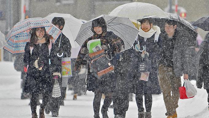 関東甲信東北地方の太平洋側で雪の予報~ピークは帰宅時間