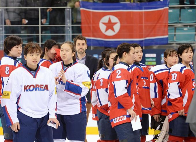 アイスホッケー女子 北朝鮮 韓国