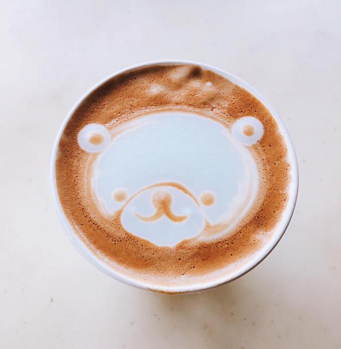 ラテアート くま 河西新聞店 ニュース コーヒー