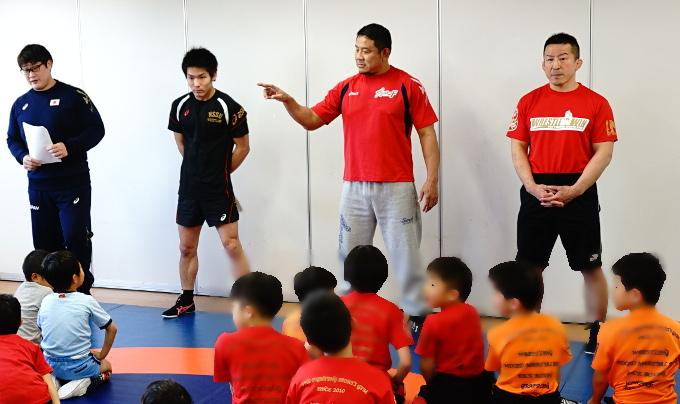 永田裕志、永田克彦が子どもたちに熱血指導! キッズレスリング教室が1日限定で開校!!