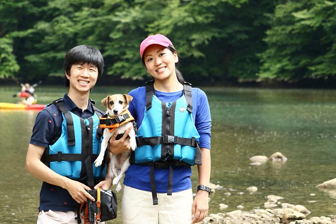 カヤック 家族 記念撮影 保護 保護犬 イヌ 犬 いぬ 愛犬