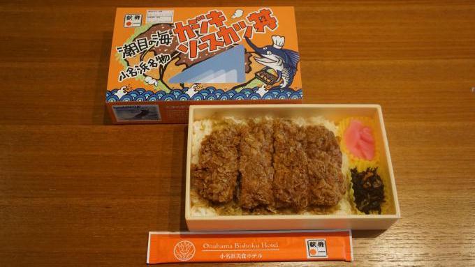 いわき駅「カジキソースカツ丼」(880円)~レールとソースかつ丼が福島の東西を結ぶ・磐越東線の旅
