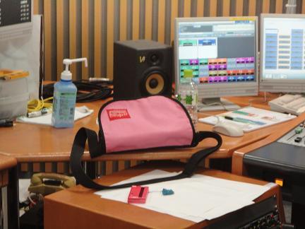ミキサー若林さんのバッグだけピンク.JPG