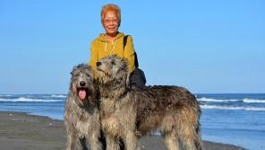60歳女性と究極の大型犬『アイリッシュ・ウルフハウンド』の暮らしとは 【わん!ダフルストーリー】