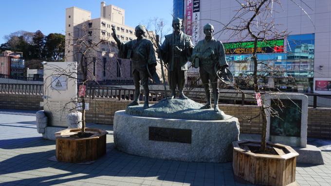水戸駅北口・黄門さま御一行