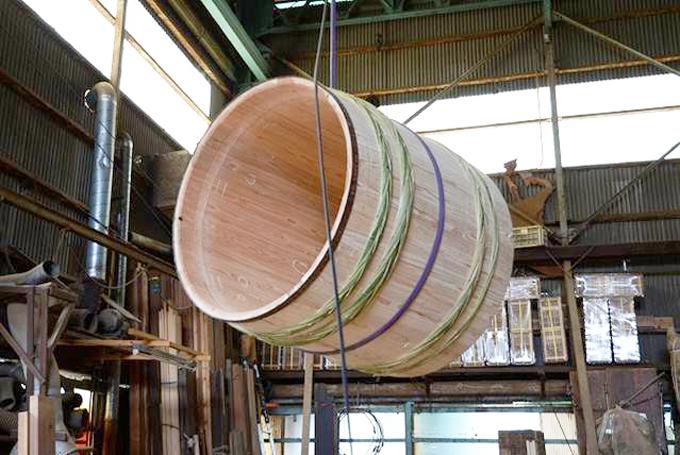 吉野杉で作った樽
