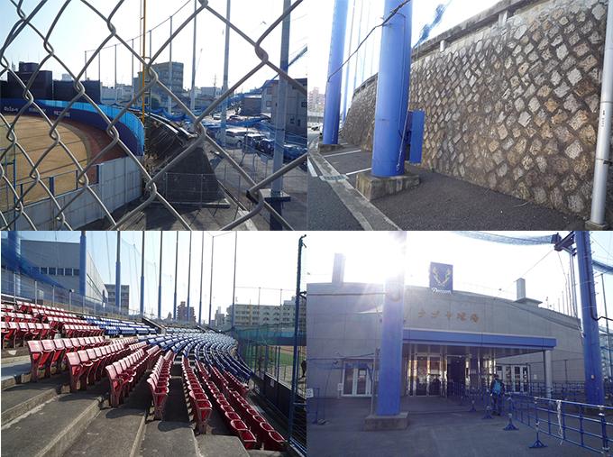 ナゴヤ球場 ロゴ 外野席 石垣 球場 三塁側 スタンド