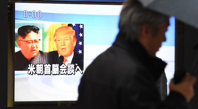 金正恩 トランプ 大統領 首脳会談 街頭テレビ
