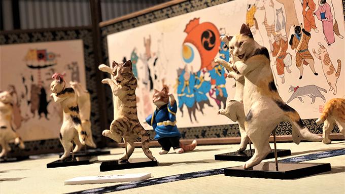 猫好きによる猫の都の国宝展開催 -猫都の国宝展at百段階段-
