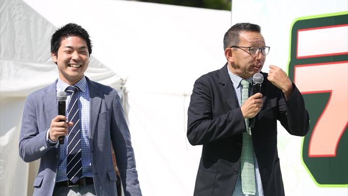 松本アナと新人大泉アナの実況対決で日比谷公園が野球場に?【ラジオパーク情報】