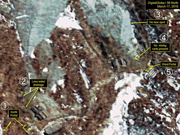 豊渓里 北朝鮮 核実験 場 北側坑道 西側坑道