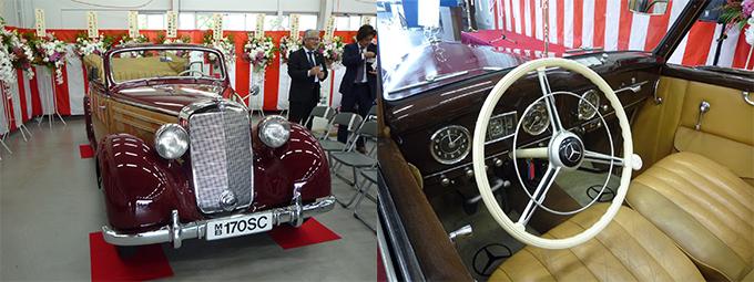 メルセデス ベンツ W136 170S カブリオレB 1951年式 レザーシート