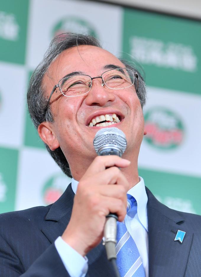 花角 英世 新潟県 知事選 当選