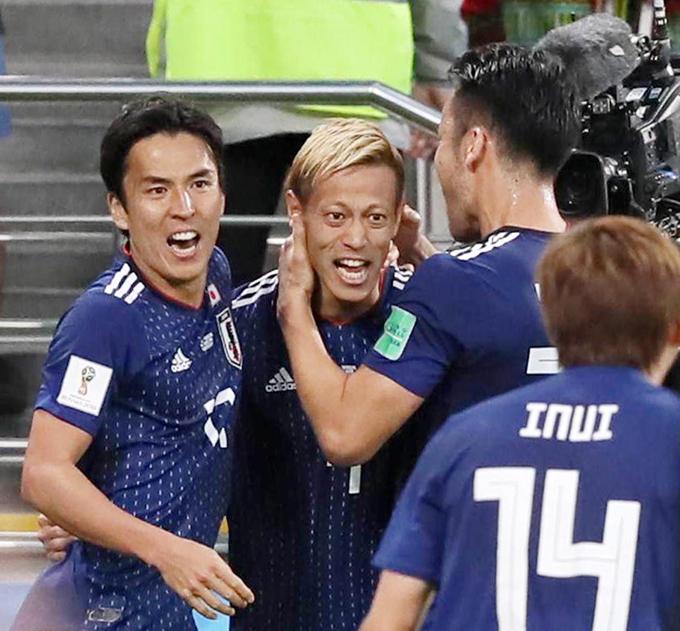 サッカー ロシア W杯 2018 本田圭佑 ゴール