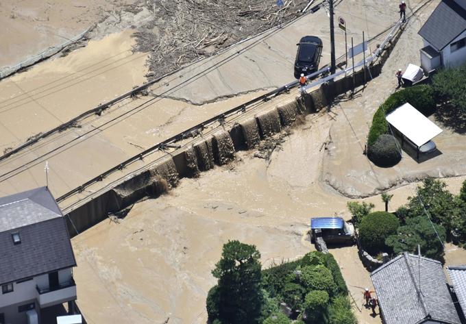 広島県 府中町 氾濫 榎川