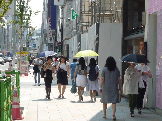 日傘 必需品 東京 銀座