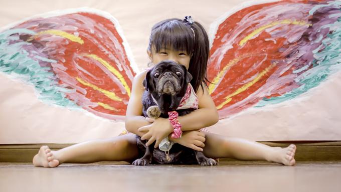 「私がママとして選んだの」。12歳の保護犬に頼られた5歳の少女の決意と熱意
