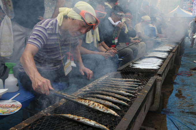 4時間待ちの7000匹の秋刀魚は宮古市の味