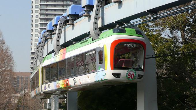年間100万人が利用する上野動物園のモノレール『上野懸垂線』