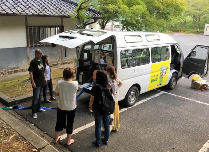 倉敷市内 倉敷 トリミングサロン ペット 被災 西日本豪雨 避難 トリミングカー