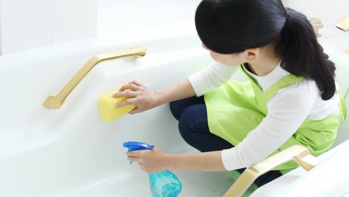 浴そうをこすらない 新方式のお風呂用洗剤!