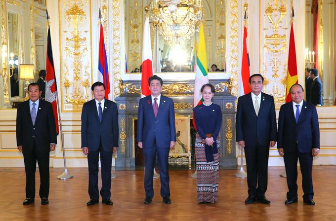 日メコン 首脳会談 中国 日米首脳会談 アメリカ トランプ メコン 東南アジア
