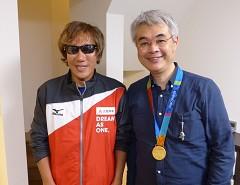 煙山アナウンサーがアテネパラリンピック金メダリスト・高橋勇市選手の自宅へ