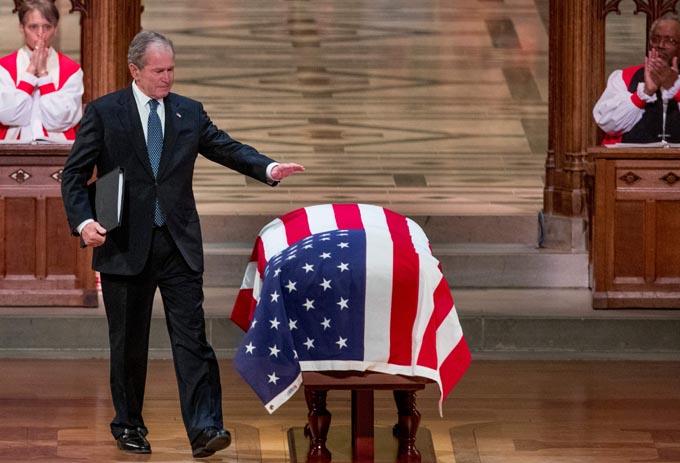 ジョージ・H・W・ブッシュ ブッシュ パパブッシュ 追悼 国葬 イラク戦争 フセイン 大統領