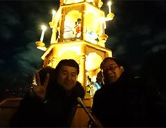 日比谷公園で開催された東京クリスマスマーケットの中継の様子