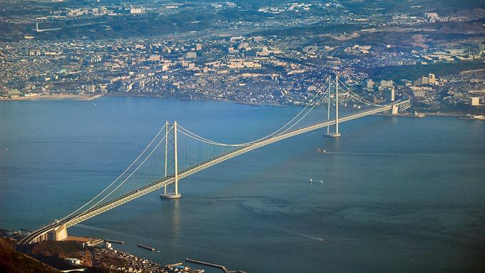 1998年4月『明石海峡大橋』開通~世界最長の吊り橋に
