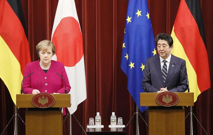 日独 首脳会談 ドイツ メルケル 首相 安倍 ファイブアイズ ファイブアイズ+3