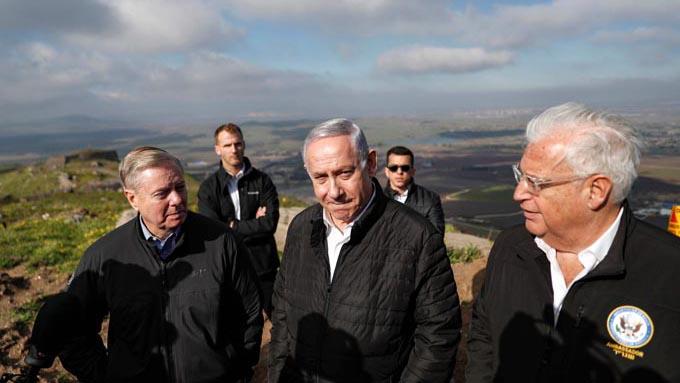 """トランプ大統領のゴラン高原イスラエル主権承認は""""米国内へのパフォーマンス"""""""