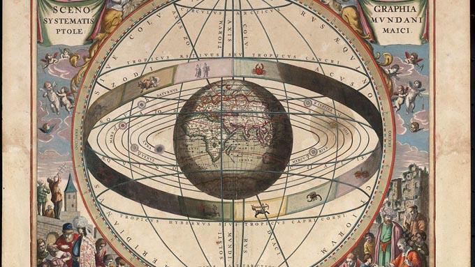 世界地図に初めて緯度・経度を取り入れたプトレマイオス