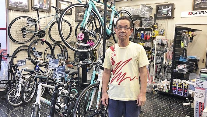 店主が1人で経営する自転車店~いち早く「ルイガノ」に注目した手腕