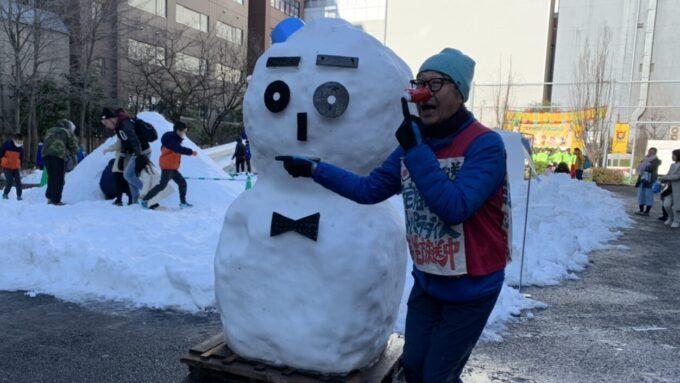 「神田小川町 雪だるまフェア」へ 田上が走る!!